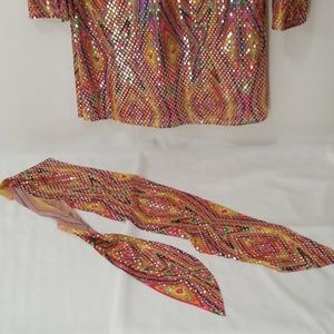 California Costumes Dresses - Disco Dolly Halloween Costume, Size Large